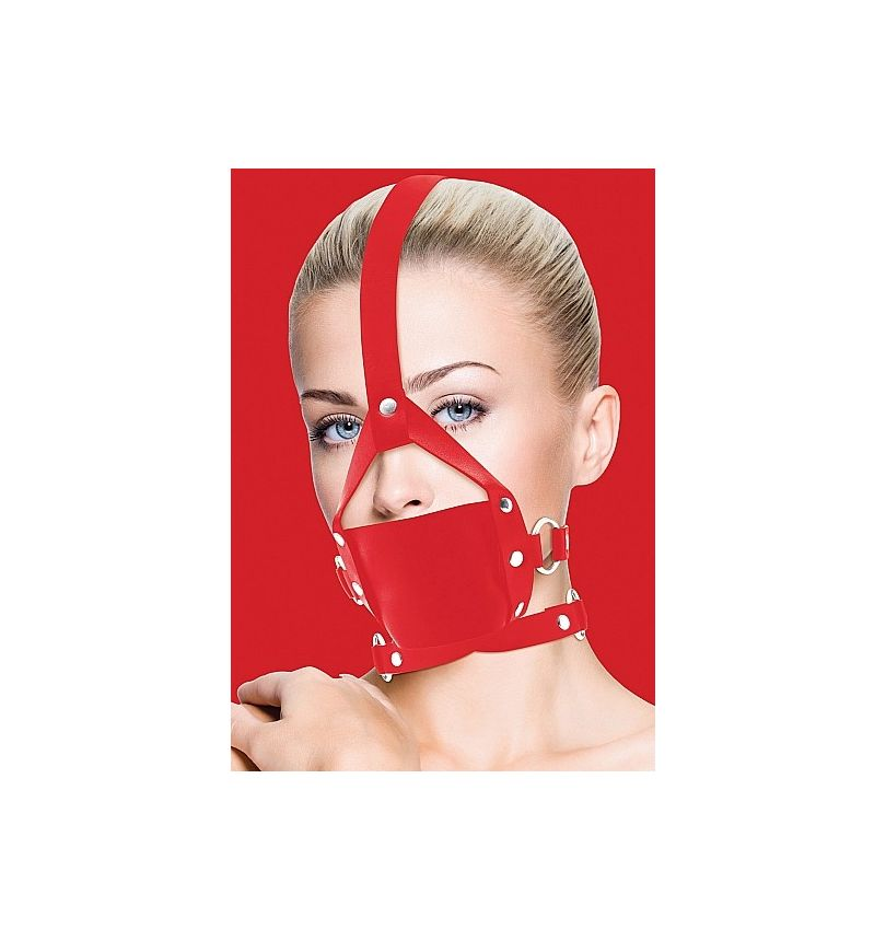 Leather Mouth Gag rouge