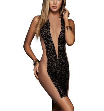 Dress nude black 4423